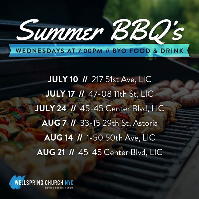 Summer BBQ -Party Events - Wellspring Church NYC