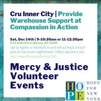 Mercy and Justice Volunteer Event- Cru Inner City